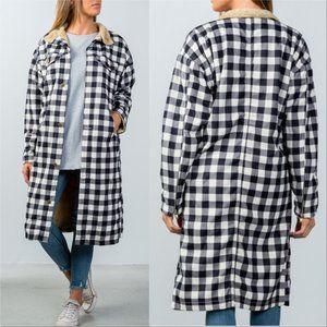 Checkered Lumberjack Fur Lined Coat